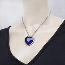 Феново мода классический Титаник, сердце океана кристалл кулон ожерелье подарок-серебро