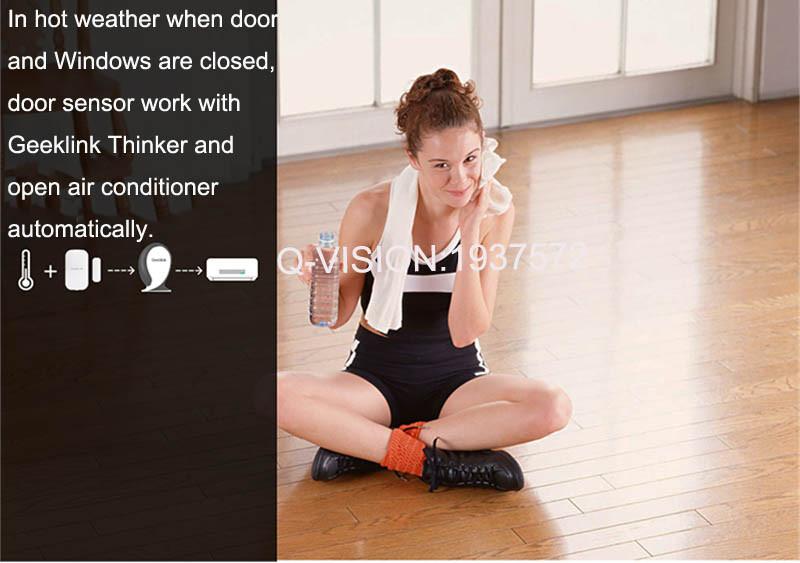6-Geeklink Two-Way Feedback Door Sensor Contact Wireless Door Window Magnet Entry Detector Sensor For Smart Home Alarm Security