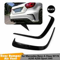 1Pair Car Black ABS Rear Bumper Splitter Spoilers Canard for Mercedes for Benz W176 A200 A250 A45 for AMG 2013-2016