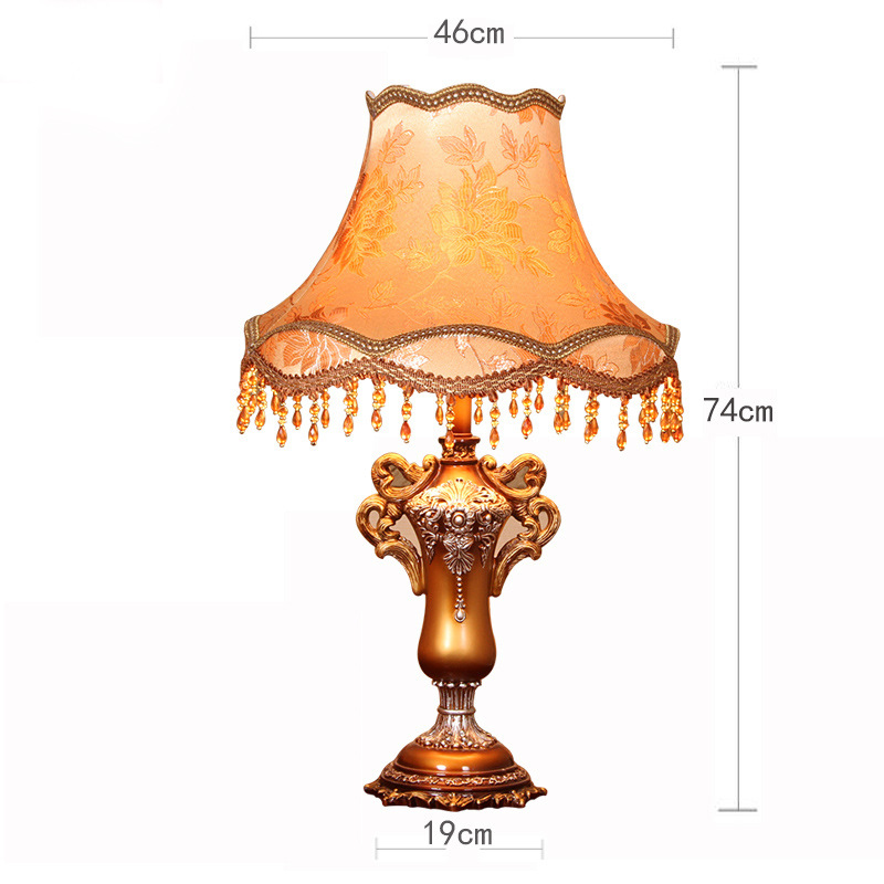 TUDA 46X74cm Free Shipping Creative Resin Table Lamps European Style Fabric Lampshade Table Lamp Vintage Home Decor Table Lamp tuda 30 5x70cm free shipping european style table lamp led table lamp romantic design home decor table lamp for bedroom foyer