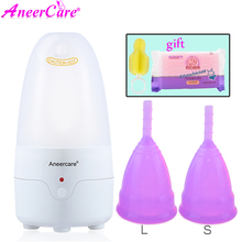 AneerCare Vagina Cup Menstrual Cup Special Sterilizer Reusable Silicone Medical Grade Vaginal Tighten Ball Sterilization Cups women reusable menstrual cup soft medical silicone lady discharge valve menstrual cups leak safety month period cup vagina care