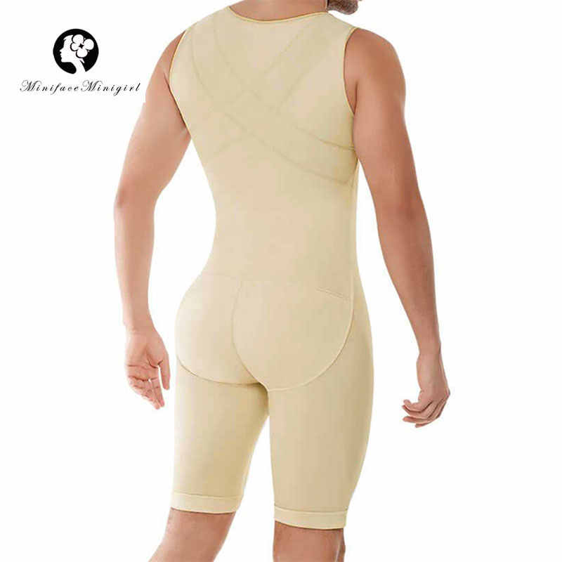 Mens Shapewear Bodysuit Tummy Control Compression Slimming Body Shaper Workout Abs Abdomen Undershirts