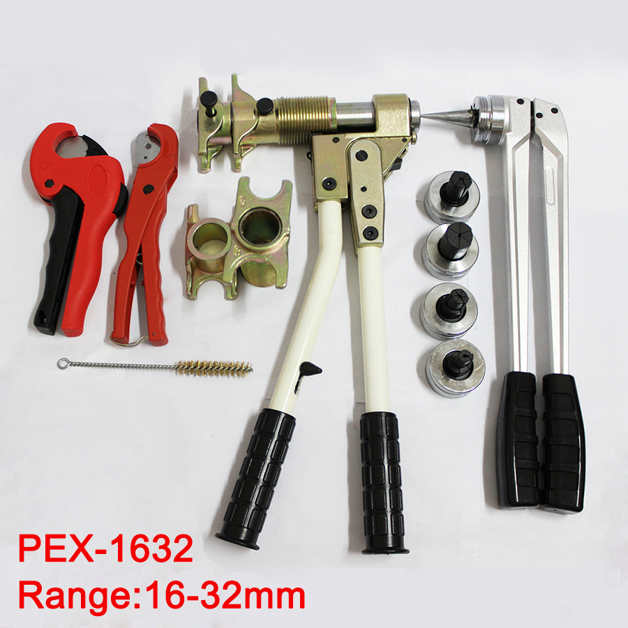 Бесплатная доставка трубный зажимной инструмент фитинг инструмент PEX-1632 диапазон 16-мм 32 мм используется для REHAU фитинги хорошо полученные ...