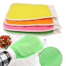 купить Shower Scrub Mitt Magic Peeling Glove Exfoliating Bath Glove Tan Removal Mitt Rubbing Towel по цене 50.8 рублей