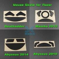 테프론 마우스 스케이트 Razer Deathladder 1800 3500 인치 당 점 2013 Mamba chroma 2012 Abyssus2014 마우스 교체 0.6mm