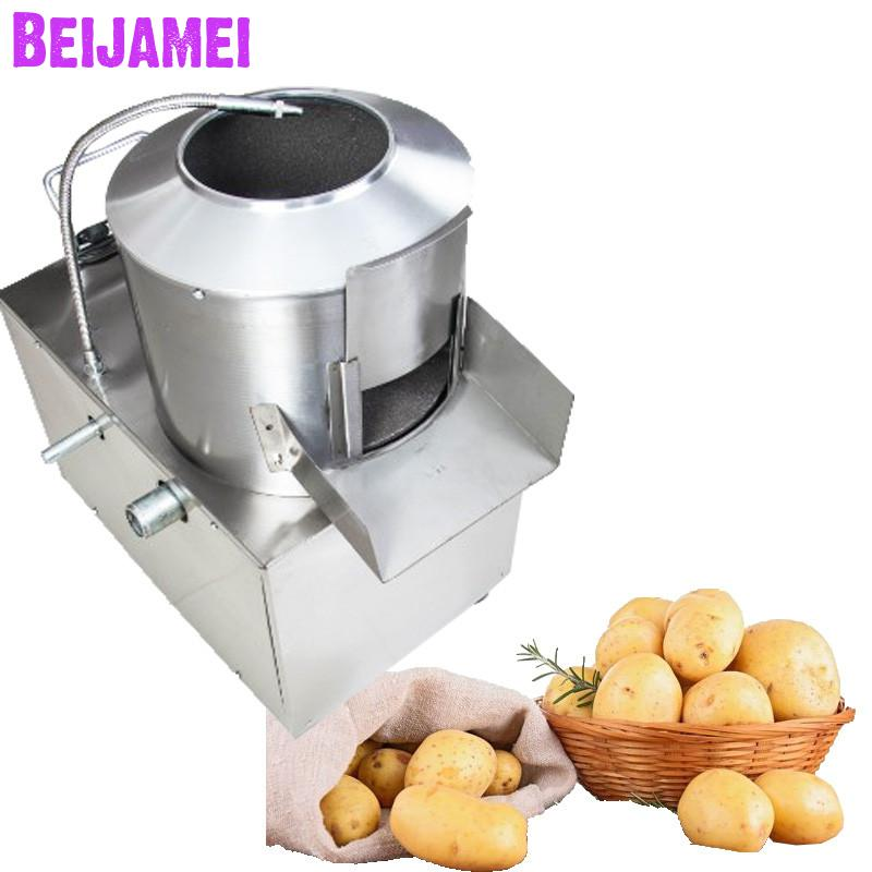 BEIJAMEI 500kg/h high capacity commercial electric automatic potato washing and peeling machine potato peeler machineBEIJAMEI 500kg/h high capacity commercial electric automatic potato washing and peeling machine potato peeler machine