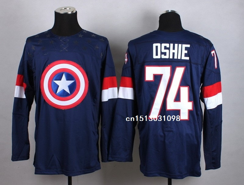 Top quality Captain America Fashion Jerseys T.J. Oshie Ryan McDonagh USA  Jersey Stitched Olympic Team USA 72 Justin Faulk ... efb6002cc