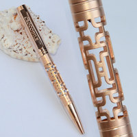 Крокодил 106 полый цилиндр шариковая ручка медь Золотой Серебряный Черный 10 цветов на выбор