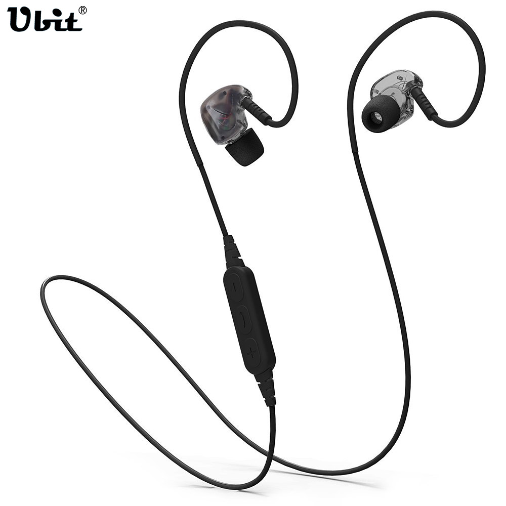Ubit BX240 Sweatproof Sport Bluetooth Earphone Headset Runing With Mic Hands-free Call Wireless Earphone Earpiece For Smartphone
