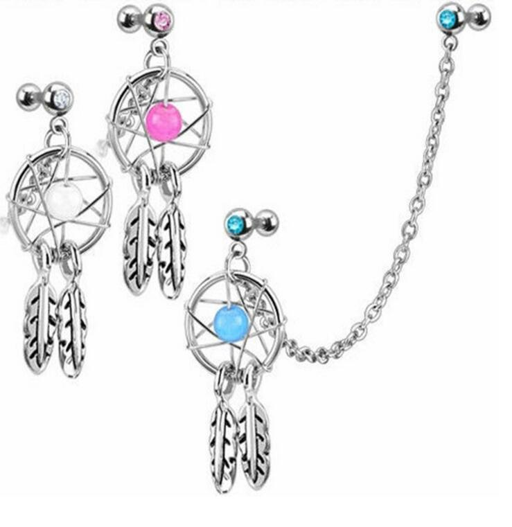 1pc Steel Dream Catcher Tragus Earrings Cartilage Piercings Sex Bikini Body Jewelry Pircing Tragus Earring Pircing For Women