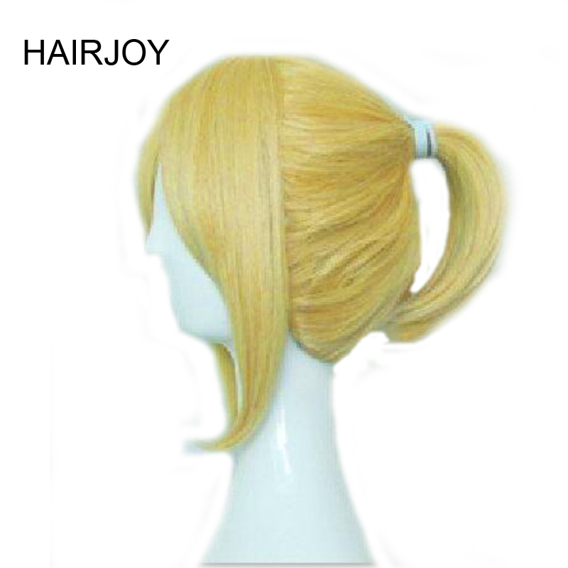 HAIRJOY Synthetic Hair Wigs Vocaloid Kagamine Len Blonde Grey Balck Red Brown Cosplay Wig High Temperature Fiber 5 Colors