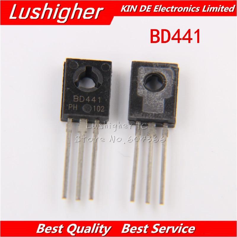 NPN Transistor BD441 Original 10pcs New TO-126 4A To126-Line 80V 10pair