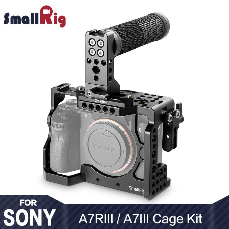 SmallRig a7r3 Cage Camera Kit per Sony A7R III/A7M3/A7III Con Top Handle Grip HDMI Cavo Morsetto 2096