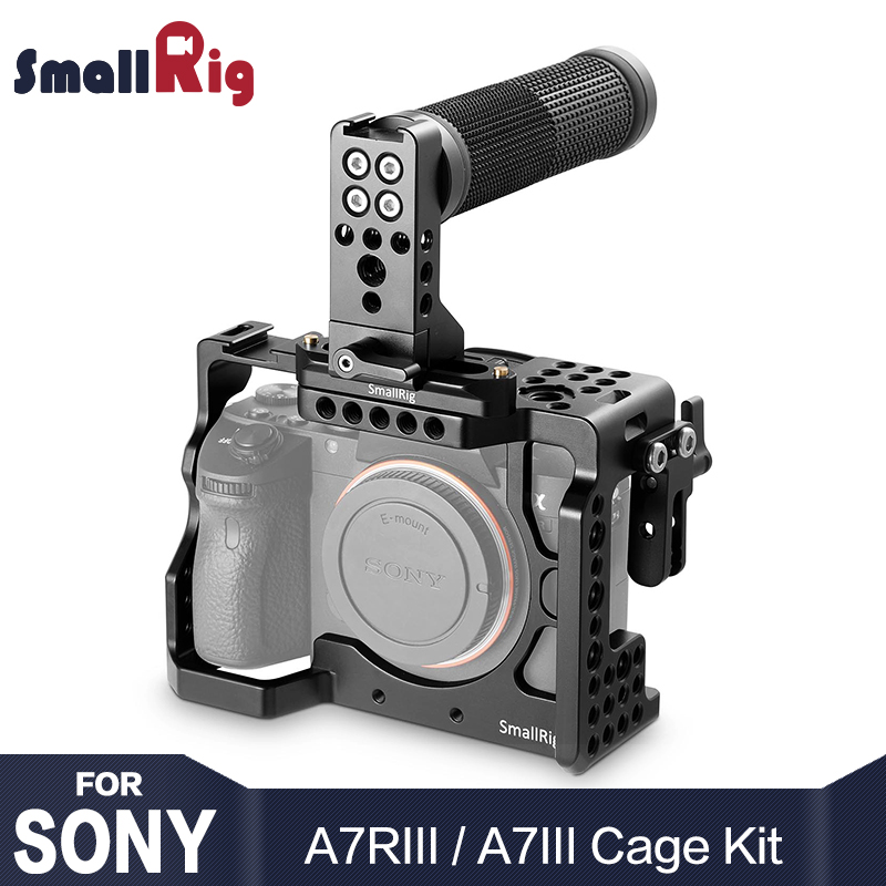 SmallRig a7r3 Caméra Cage Kit pour Sony A7R III/A7M3/A7III Avec Top Poignée Grip HDMI Câble Pince 2096
