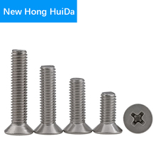 цена на M6 M8 M10 M12 304 Stainless Steel Phillips Flat Head Cross Recess Screw Countersunk Thread Metric Machine Bolt