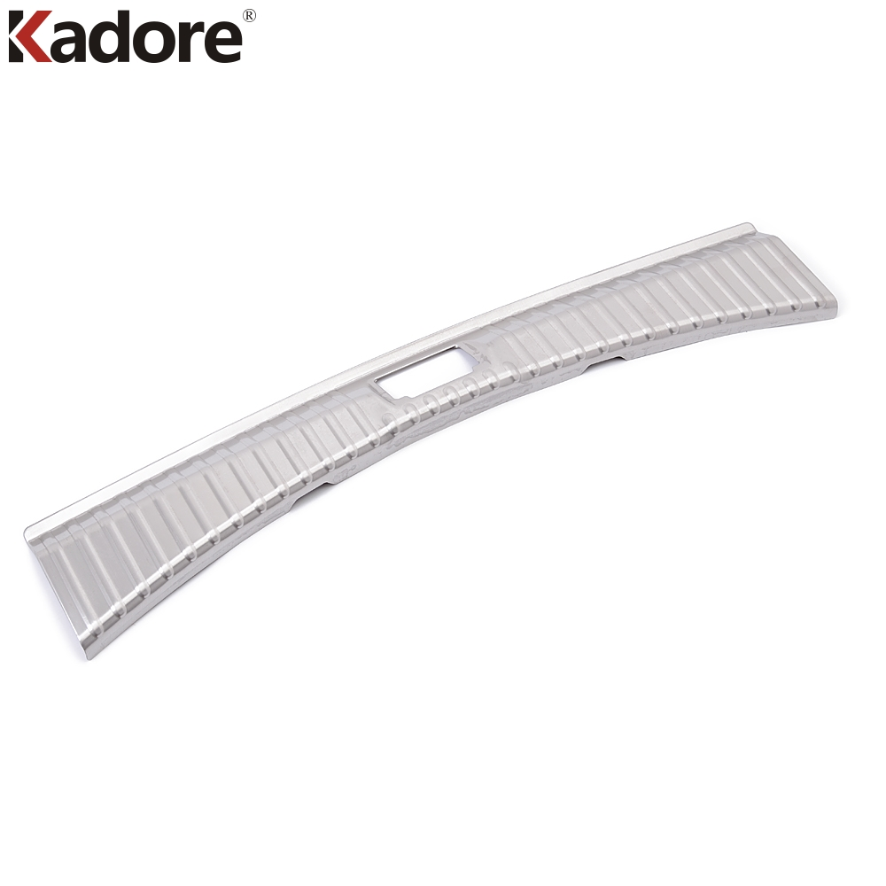 For Ford Kuga Escape 2017 2018 2019 Stainless Steel Inner Rear Bumper Pad Protector Trim Tail Trunk Scuff Plate Cover