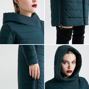 Image 4 - MIEGOFCE 2020 אביב נשים מעיל עם עקומת רוכסן נשים מעיל גבוהה איכות דק כותנה מרופדת מעיל נשים של חם Parka מעיל