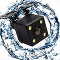 170 Degree 4 LED Lights Night Vision Waterproof Reversing CCD Car Rear View Camera With 4.3 Inch Monitor