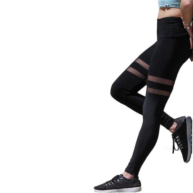 2017 New Fitness Leggings Women Mesh Active Slim Legging Sportswear Women's Legging Tayt Pants Fashion Casual Workout Leggins