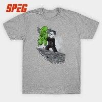 夏クトゥルフtシャツを魔王青年スリムフィット半袖tシャツ卸売男性綿の男性のシャ