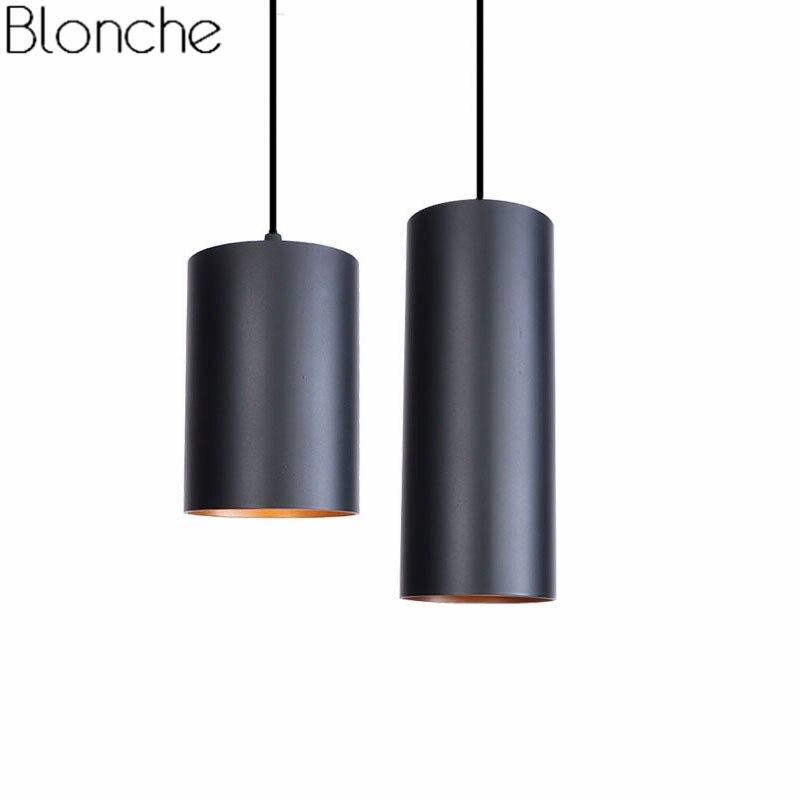 Luces colgantes de cilindro nórdico Vintage para comedor decoración  Industrial Led lámpara colgante luminaria