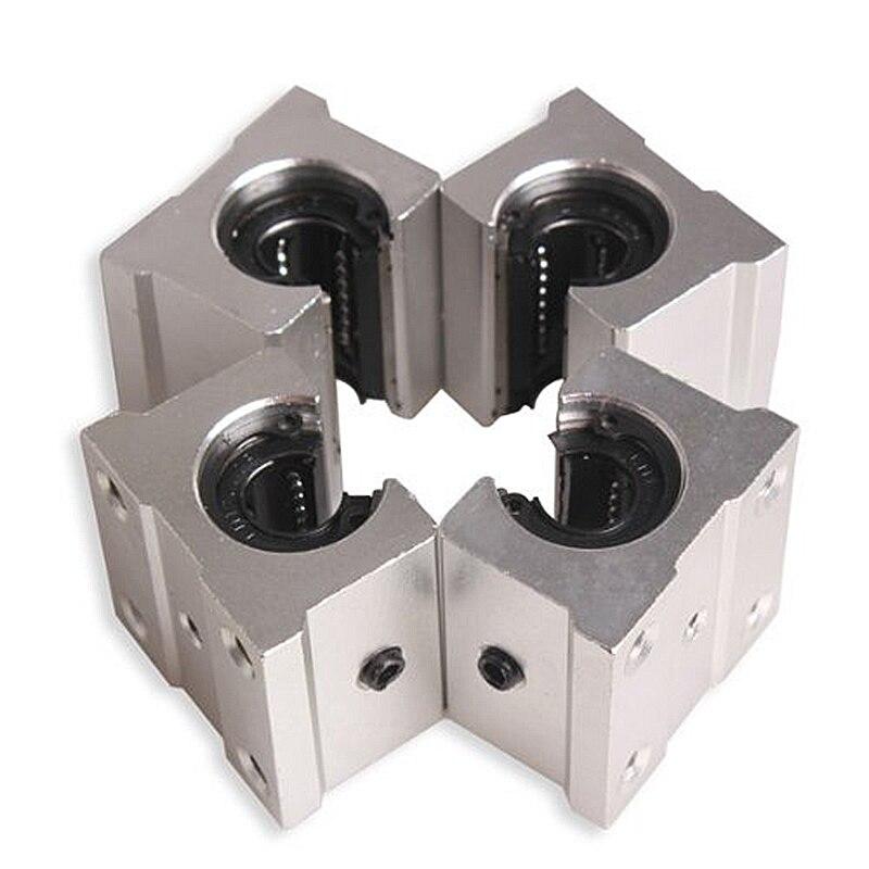 Cheapest 4 x SBR12UU 12mm Aluminum Linear Motion Router Bearing block, silver