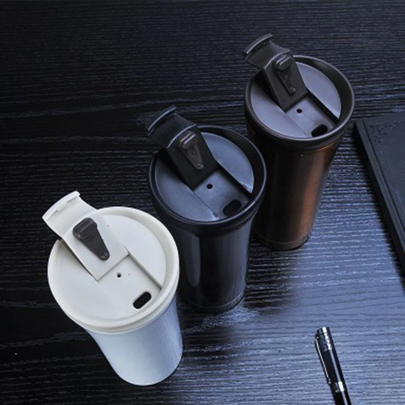 500ml Premium Travel Vacuum Coffee flasks Portable In-car Seal Insulated Tea Water Cups Food Grade PP 304 Stainless Steel image