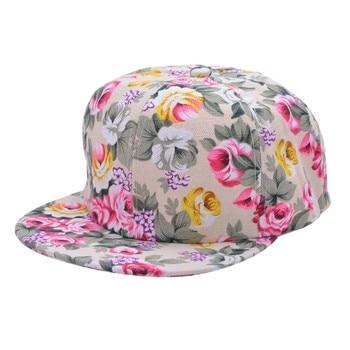 Floral Flower Snapback Adjustable Fitted Cap 1