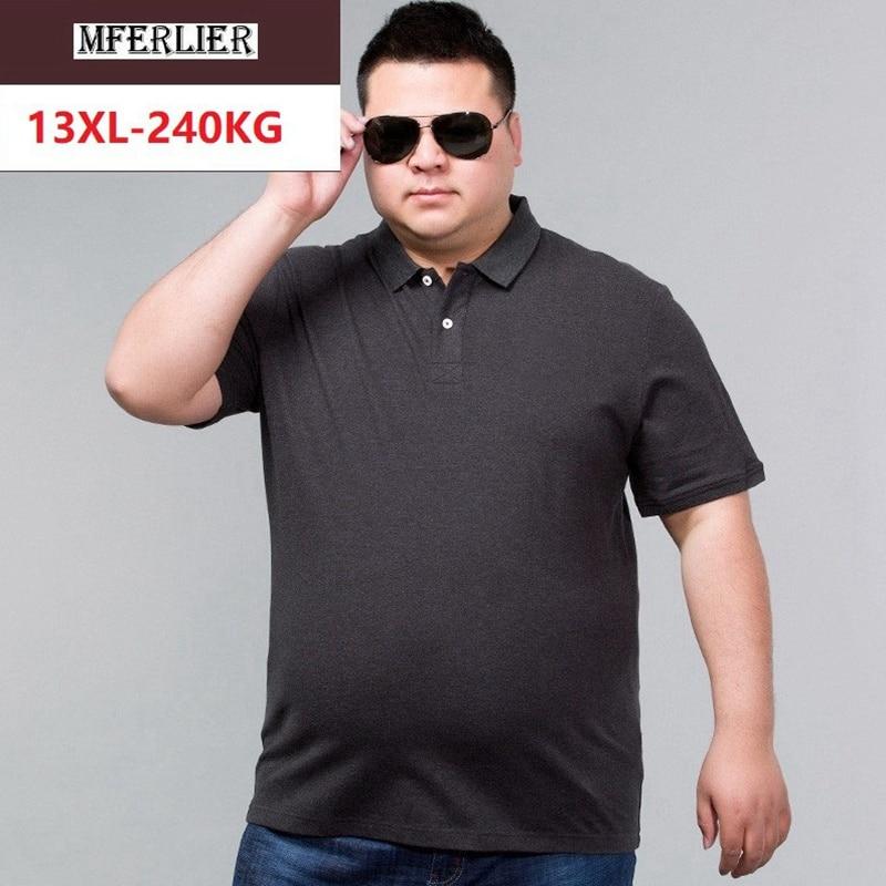 Men Solid Shirts Short Sleeve Turn-down Collar Classic Simple Shirt Cotton Plus Size Big 8XL 9XL 10XL 12XL 58 60 62 64 66 68 70