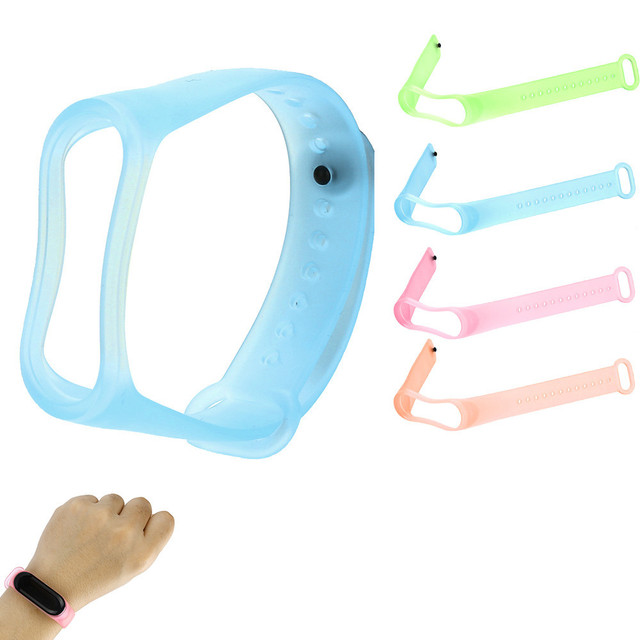 New Fashion Transparent Wristbands Sports Soft TPE Silicone Replacement Wristban