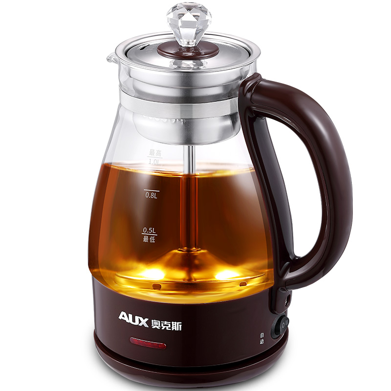 Electric Kettle Tea Cooking Automatic Steam Black Tea Kettle Glass Electric Mini Office Pu'er Steaming Tea octavia tea bombay chai organic fair trade black tea 2 51 ounce tin