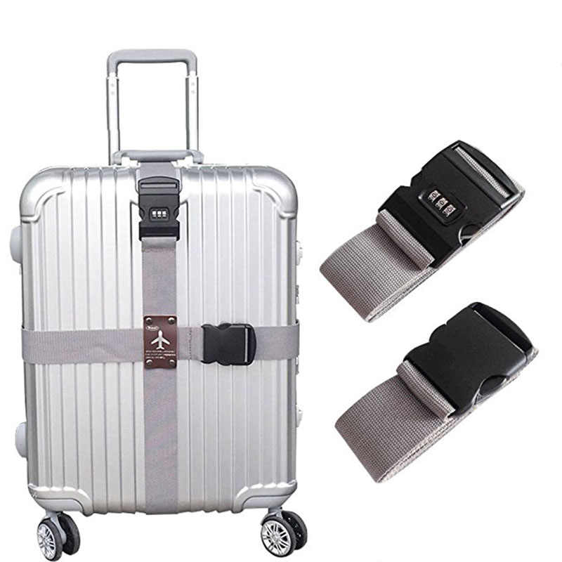 Adjustable Travel Baggage Bag Travel Bag Luggage Belt Outdoor lock Luggage Accessories
