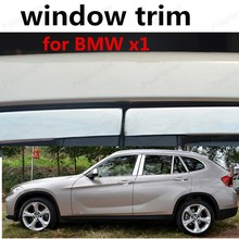 wholesale Car Styling Decoration Strip full window trim For BMW x1 with column Car Exterior Accessories Stainless steel