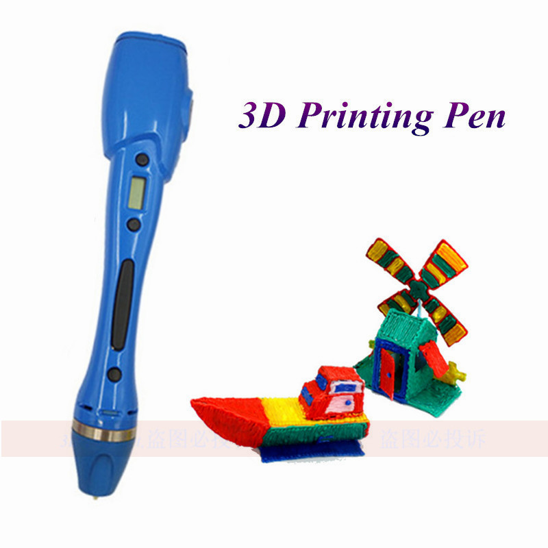 New 2018 Authentic 3D Pen Can With PLA ABS Filament LED Display Kids DIY 3D Drawing Pens 3D Printing Pen For Kid Best Gift dewang patent usb 3d pen art smart drawing pen printing pen kid education toy with 10 colors 5m free abs pla addition filament