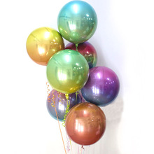 New 4D rainbow laser Round Foil Balloons  Wedding Birthday Party Decoration Helium Inflatable Baloons Globos Toys 50pcs