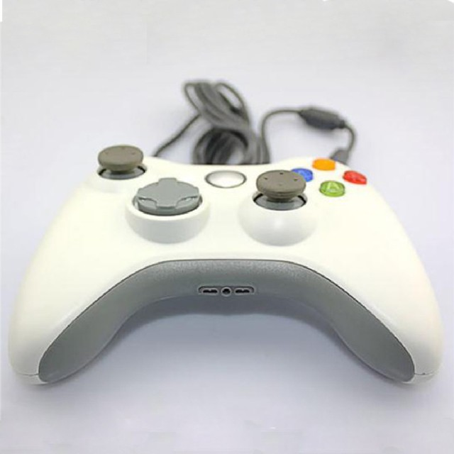 2016 New White Plastic Comfortable Wired Game Pad Controller For Microsoft Xbox360 Pc High Quality