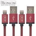 2 ШТ. 2 M Apple Мфо certified 8Pin USB Синхронизации Данных Кабель Зарядного Устройства Шнур зарядки Кабели для Apple iPhone 6 6 Plus 5 5S 5 Г 5C Дате IOS9