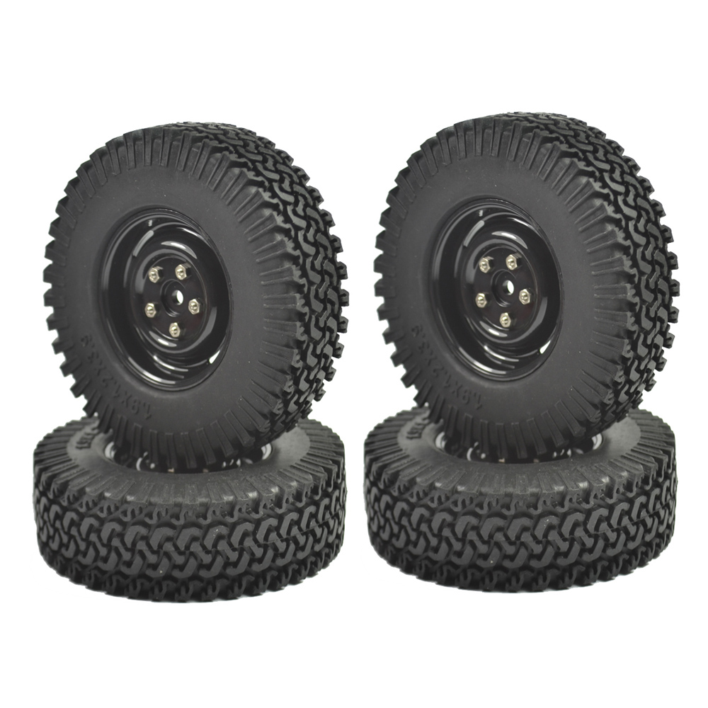 4PCS 1/10 Crawler Tire Set 1.9 With Foam Insert for RC Crawlers 1/10 RC Crawler 1.9 98MM Tire&Plastic Wheel set
