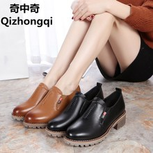 2017 Spring and Autumn Bullock genuine leather women shoes retro casual shoes  deep mouth comfortable women's shoes