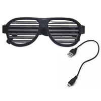 Sound Control LED Flashing Glasses Halloween Glowing Party Mask Decor Bar Flashing LED Glasses Party Festival