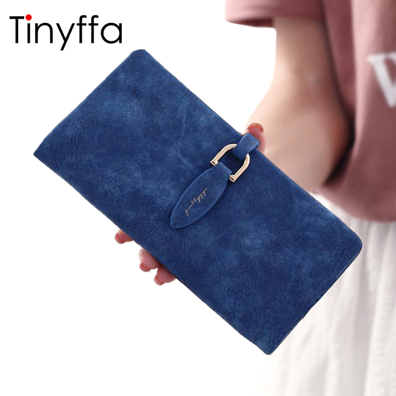 Tinyffa Brand Woman Wallet Female Purse Women Credit Card Holder For Phone Coin Purse Clutch Organizer Leather Ladies Walet Long simple organizer wallet women long design thin purse female coin keeper card holder phone pocket money bag bolsas portefeuille