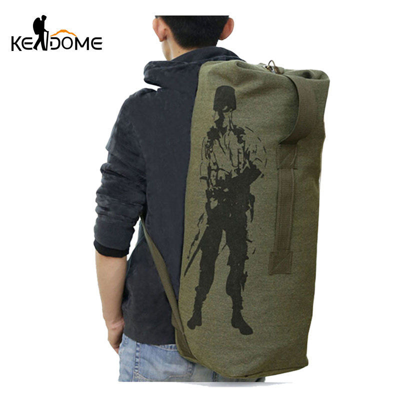 Multifunction Canvas Tactical Backpack Rucksacks Military Army Bag Men Women Outdoor Foldable Travel Hiking Camping Bag XA549YL