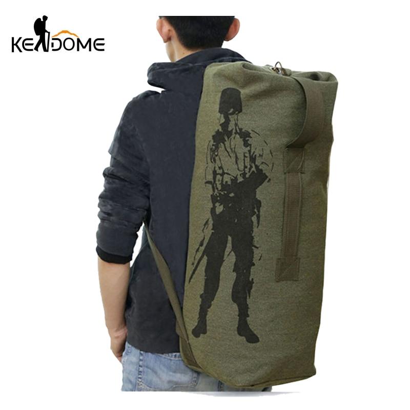 Multifunction Canvas Tactical Backpack Rucksacks Military Army Bag Men Women Outdoor Foldable Travel Hiking Camping Bag XA549YL