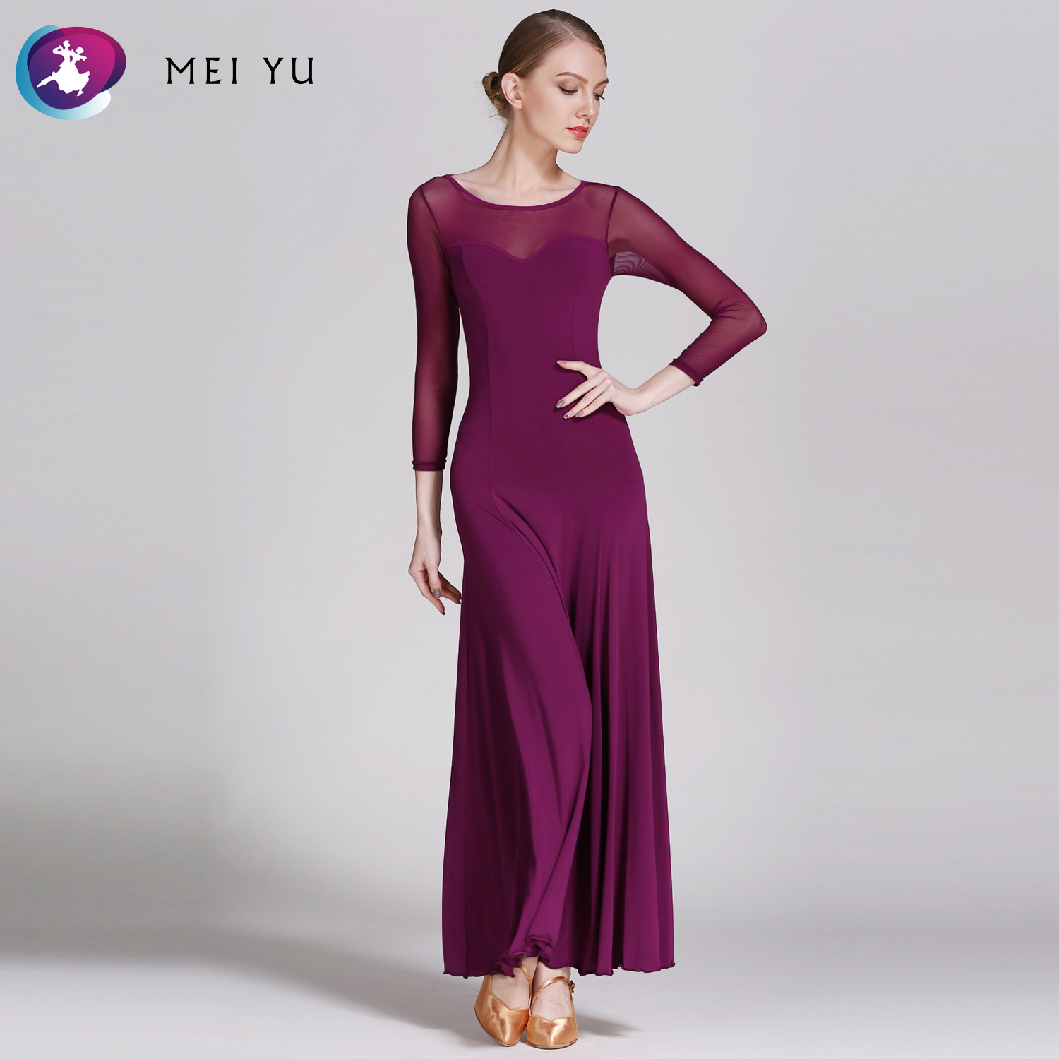 Stage & Dance Wear Mei Yu S8007 Modern Dance Costume Women Ladies Adults Dancewear Waltzing Tango Ballroom Costume Evening Party Dress Activating Blood Circulation And Strengthening Sinews And Bones