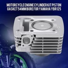 Мотоцикл Набор цилиндров двигателя Поршень Прокладка 54 мм отверстие для YAMAHA YBR125 YBR 125 двигателя