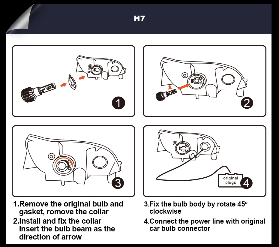 CNSUNNYLIGHT LED H4 H7 H11 H8 H1 H3 9005 9006 HB4 Car Headlight Bulbs Adjustable Beam 60W 9000LM each Pair 6000K Auto Light 12v 24v (18)