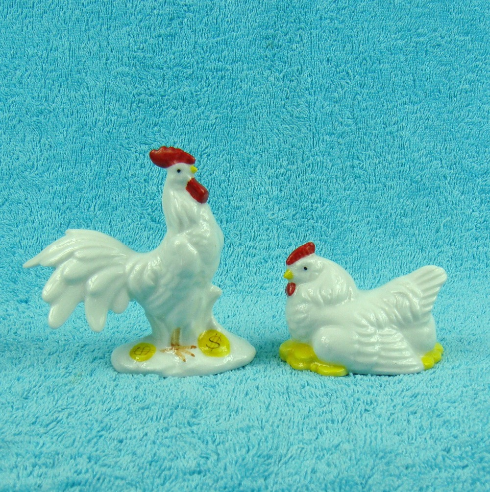 Buy porcelain rooster figurine ceramic brood hatching hen miniature family - Find porcelain accessory authentic ...