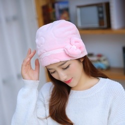 2017 women hat autumn winter flannel skullies beanies polyester knitted hats beanie hat women bow beanies.jpg 250x250