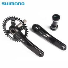 цена на SHIMANO Deore XT M8000 Crankset 1x11 Speed Chain Wheel crank with Deckas 96BCD Narrow Wide chainring 32T 34T 36T 38T with MT800