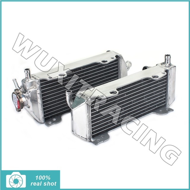01 02 03 04 05 06 07 L/R New Aluminium Cores MX Offroad Motorcycle Radiators Cooling For Suzuki RM 125